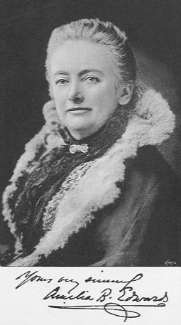 Amelia Edwards, 1890