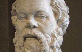 Buste van Socrates in het Louvre in Parijs (CC BY-SA 2.5 - Sting - wiki)