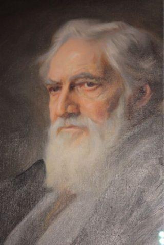 Flinders Petrie op een schilderij van Philip Alexius de Laszlo, 1934 (detail)
