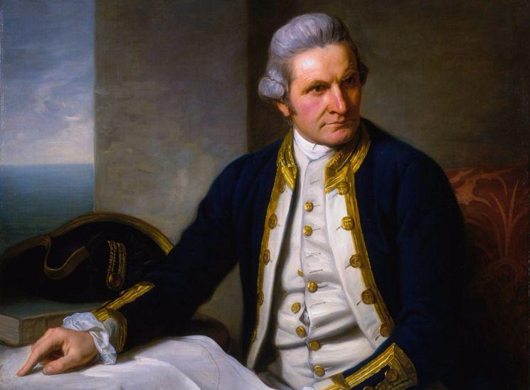 James Cook na zijn terugkeer van zijn tweede expeditie in de Stille Zuidzee (Nathaniel Dance, ca. 1775)