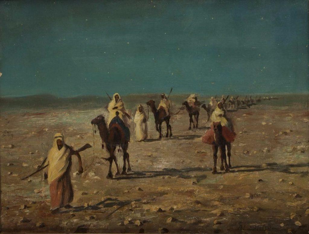 Leopold Alphons Mielich, De karavaan