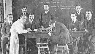 Negrín met Duitse wetenschappers