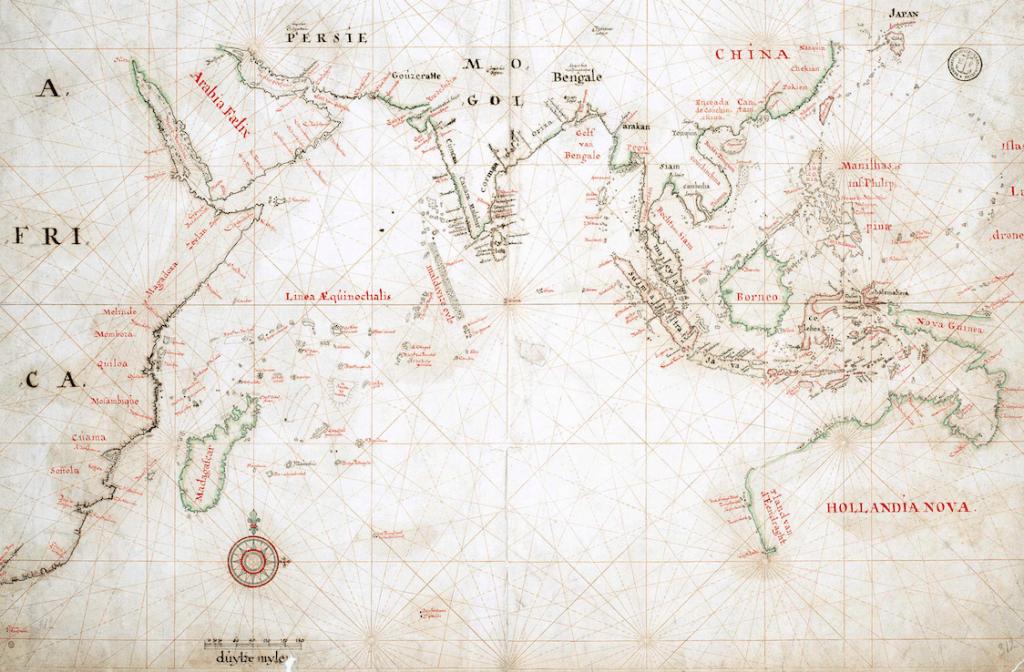 Kaart II: Rijk van de VOC in Azië, zeventiende en achttiende eeuw.