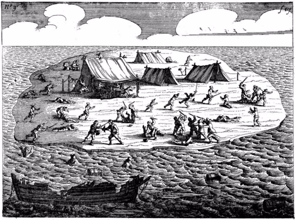 Slachtpartij na de schipbreuk van de Batavia