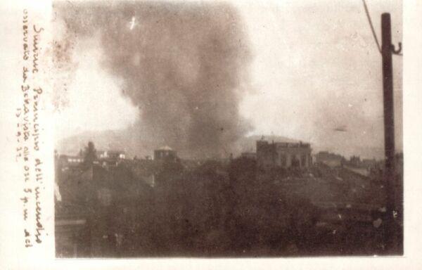 De brand in Smyrna