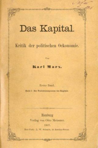 Titelpagina van de eerste uitgave van Das Kapital