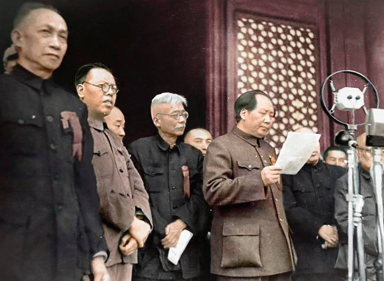 Mao roept de Volksrepubliek China uit, 1 oktober 1949 (CC BY-SA 4.0 - Orihara1 - wiki)