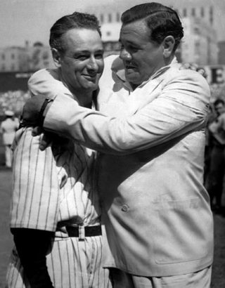 Babe Ruth en Lou Gehrig in 1939 - cc