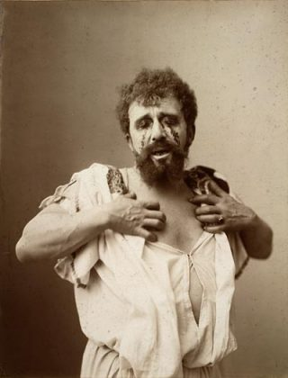 De Nederlandse toneelspeler Louis Bouwmeester als Oedipus