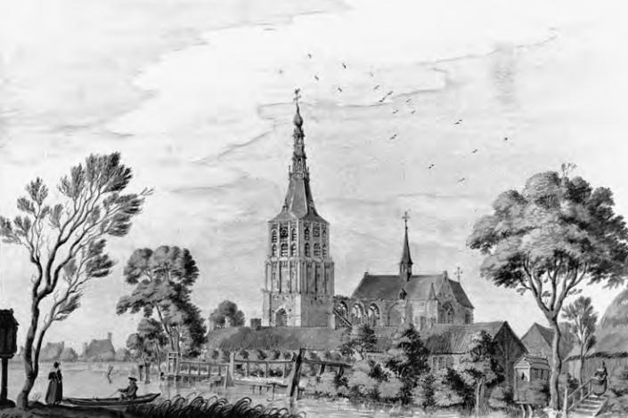 De parochiekerk van Boxtel, onbekende maker, achttiende eeuw