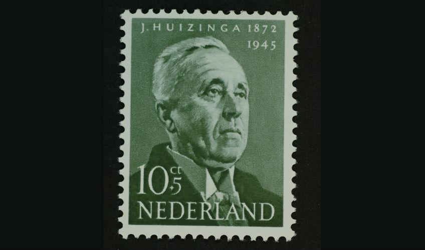 Johan Huizinga op een Nederlandse postzegel (Geheugen van Nederland)
