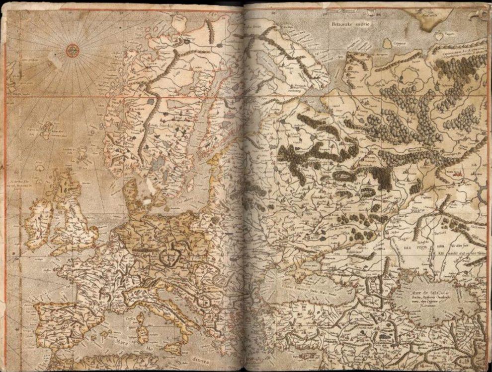 Kaart van Europa door Mercator