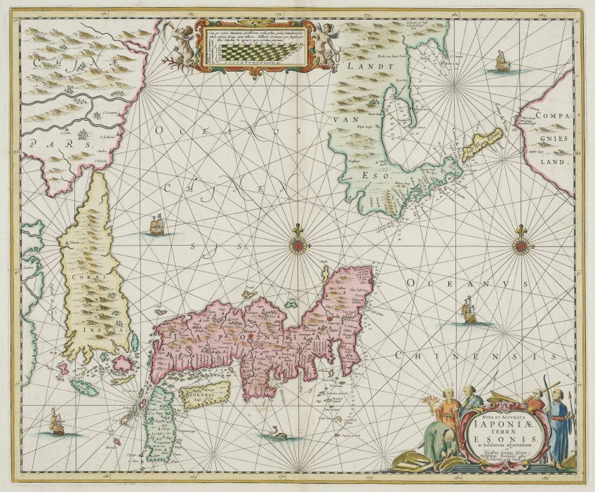 Japan (1652). Kaart van Johannes Janssonius.