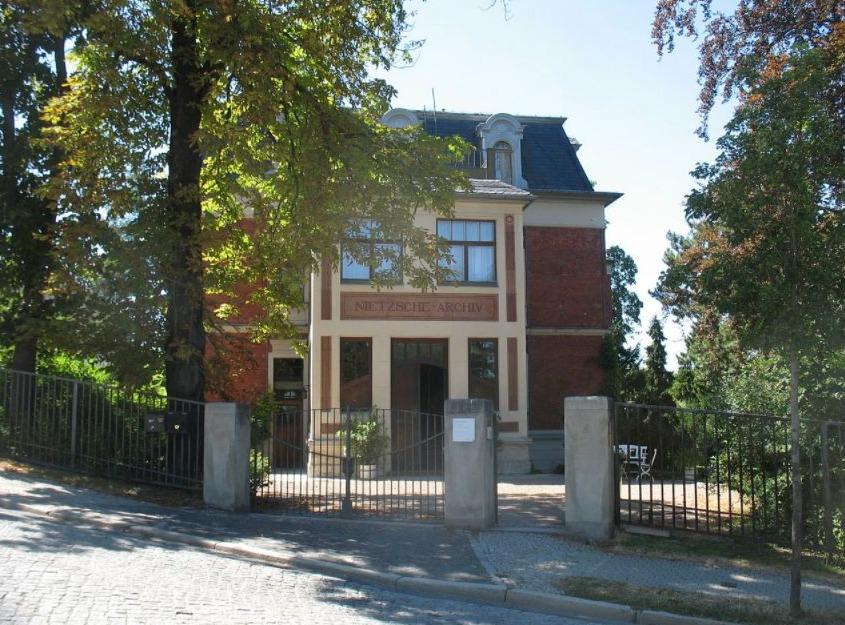Huis in Weimar waar Nietzsche de laatste jaren van zijn leven woonde