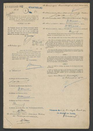 Oprichtingsverdrag van de Europese Gemeenschap voor Kolen en Staal (cc - Nationaal Archief)