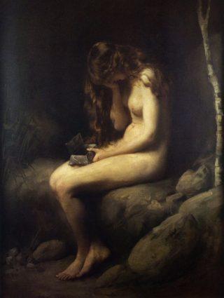 Pandora nadat ze de doos geopend heeft - Thomas Kennington