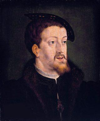 Portret van Karel V door Jan Cornelisz. Vermeyen (ca. 1530)