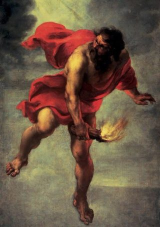 Prometheus steelt het vuur - Jan Cossiers in Museo del Prado