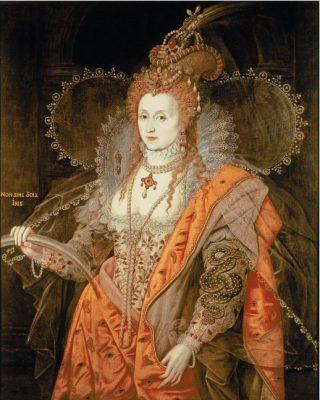 Koningin Elizabeth i, Het regenboogportret, toegeschreven aan Isaac Oliver, ca. 1600
