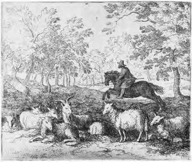 Ruiter te paard. Allaert van Everdingen (1631-1675)