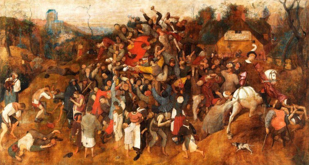 Bruegels weergave van het sint-maartensfeest (ca. 1566)