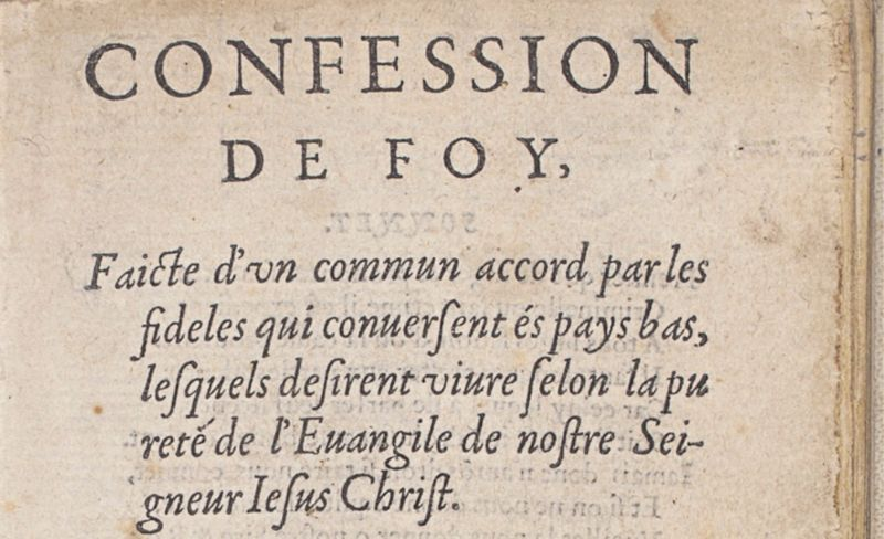 Confession de foy / Guido de Brès, 1561 (KB)