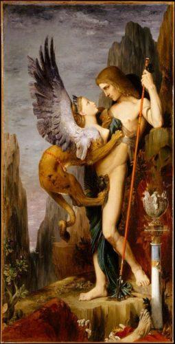 Oedipus en de sfinx - Gustave Moreau, 1864
