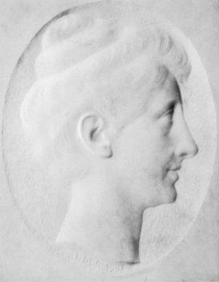 Medaillon van Elisabeth door Pier Pander, 1903. Afb: Couperus