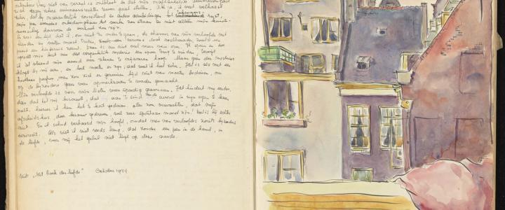 Opname uit het eerste van de twee dagboeken van Toby Vos (collectie: Atria | Kennisinstituut voor Emancipatie en Vrouwengeschiedenis)