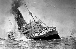 De zinkende Lusitania