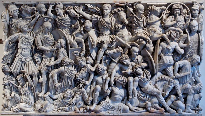 Gevecht tussen de Goten en de Romeinen