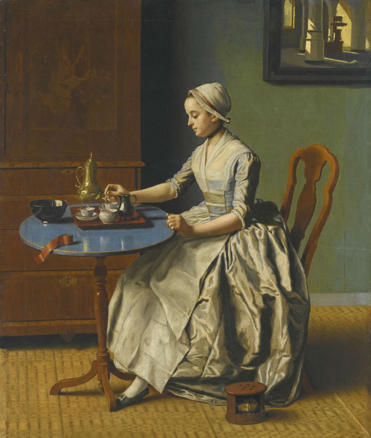 Jean-Etienne Liotard (1702-1789) 'Hollands meisje aan het ontbijt', ca 1756-57