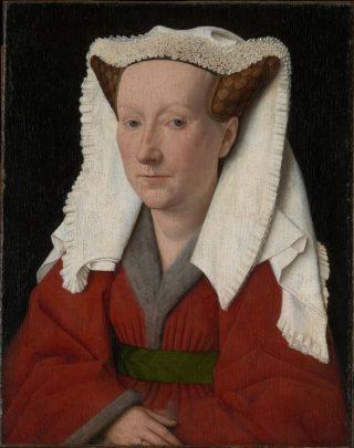 Margareta van Eyck,  1439. Geschilderd door Jan van Eyck