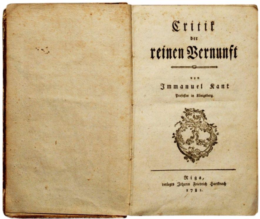 Titelblad van 'Kritik der reinen Vernunft', 1781