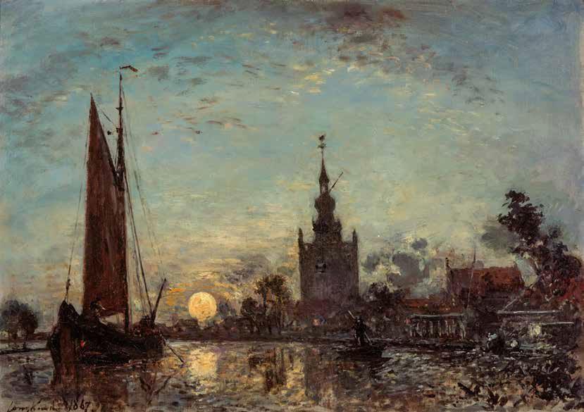 Zonsopgang bij Overschie door Jongkind 1867