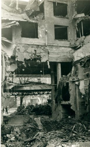 De Antwerpse Cinema Rex na de aanslag - (c) Katoen Natie - Collectie Frans Claes