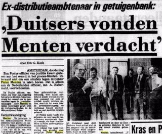 In 1977 stonden de kranten vol met nieuws over Menten. Bron: Delpher