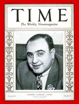Al Capone op de cover van Time Magazine, 1930