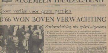 Tweede Kamerverkiezingen 1967 – D'66 komt in het parlement