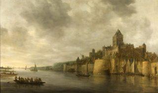 Gezicht op het Valkhof in Nijmegen, gezien vanuit het noordwesten - Jan van Goyen, 1641