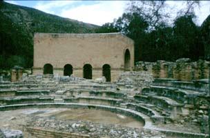 Het odeum waar de codex op aangetroffen werd.