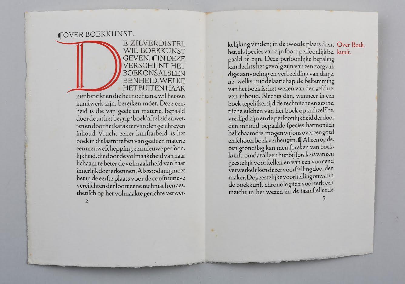 Over boekkunst en De Zilverdistel