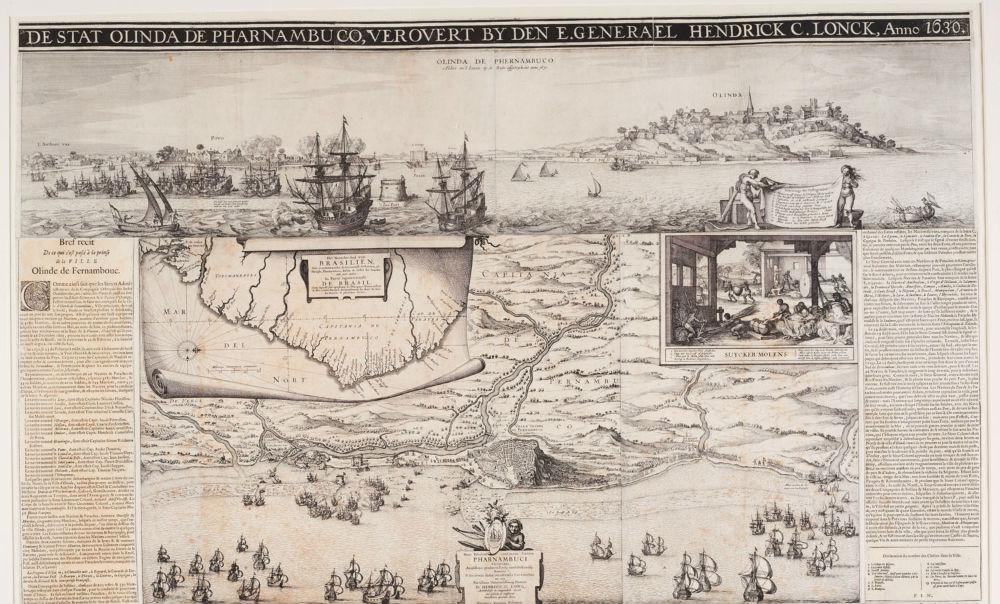 Claes Jansz. Visscher, nieuwsprent WIC van de verovering van Olinda en Recife door de West-Indische Compagnie (Amsterdam, 1630)