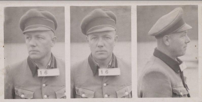 Karl Peter Berg na zijn arrestatie - Foto Nationaal Monument Kamp Amersfoort