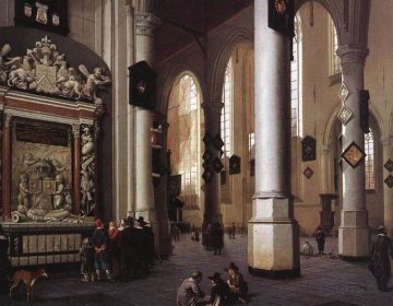 Graf van Maarten Tromp in de Oude Kerk in Delft
