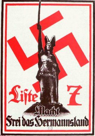 Het Hermannsdenkmal op een uiting van de nazi's