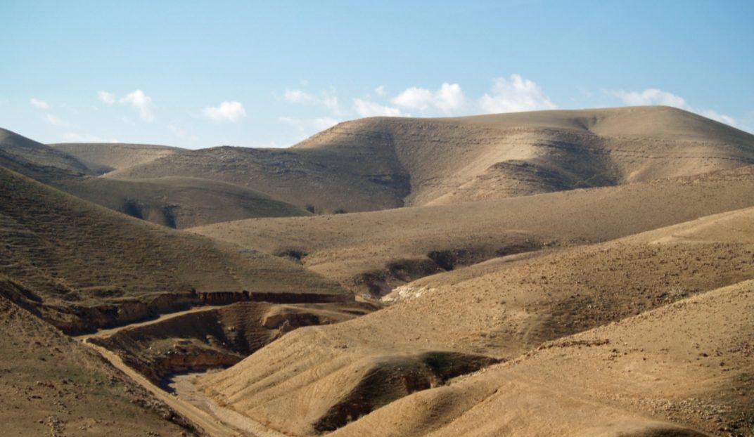 Heuvels in de woestijn van Judea - cc