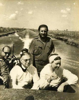 Simone de Beauvoir en Fidel Castro
