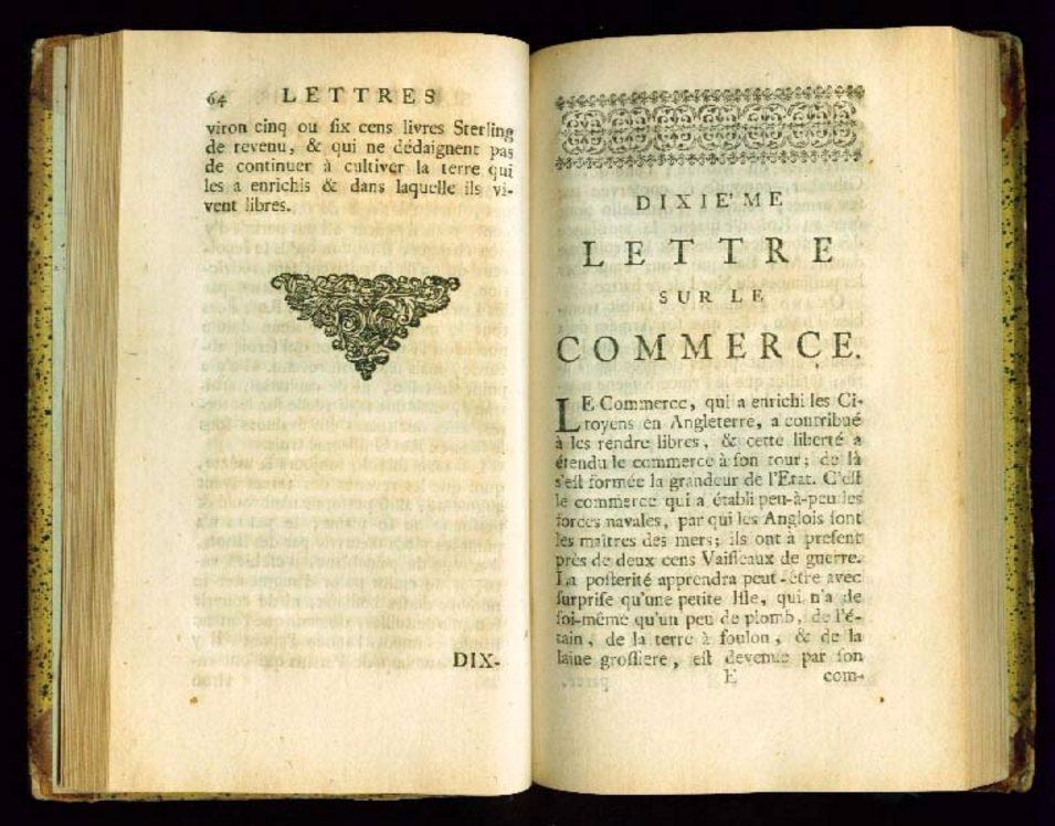 Voltaires Lettres sur les Anglois - cc