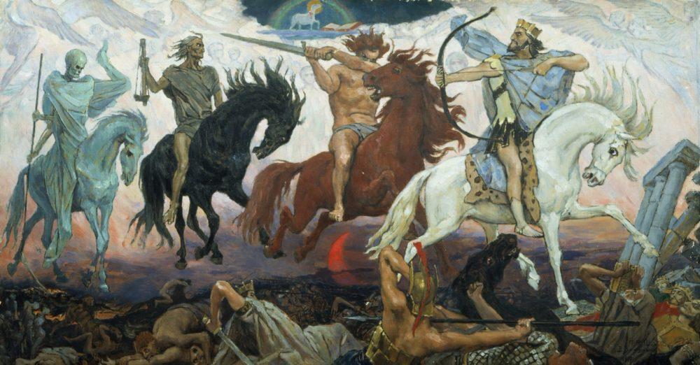 Viktor Vasnetsov, de vier ruiters van de Apocalyps